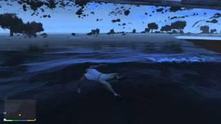 Agua bajo el Fort Zancudo - GTA V PC