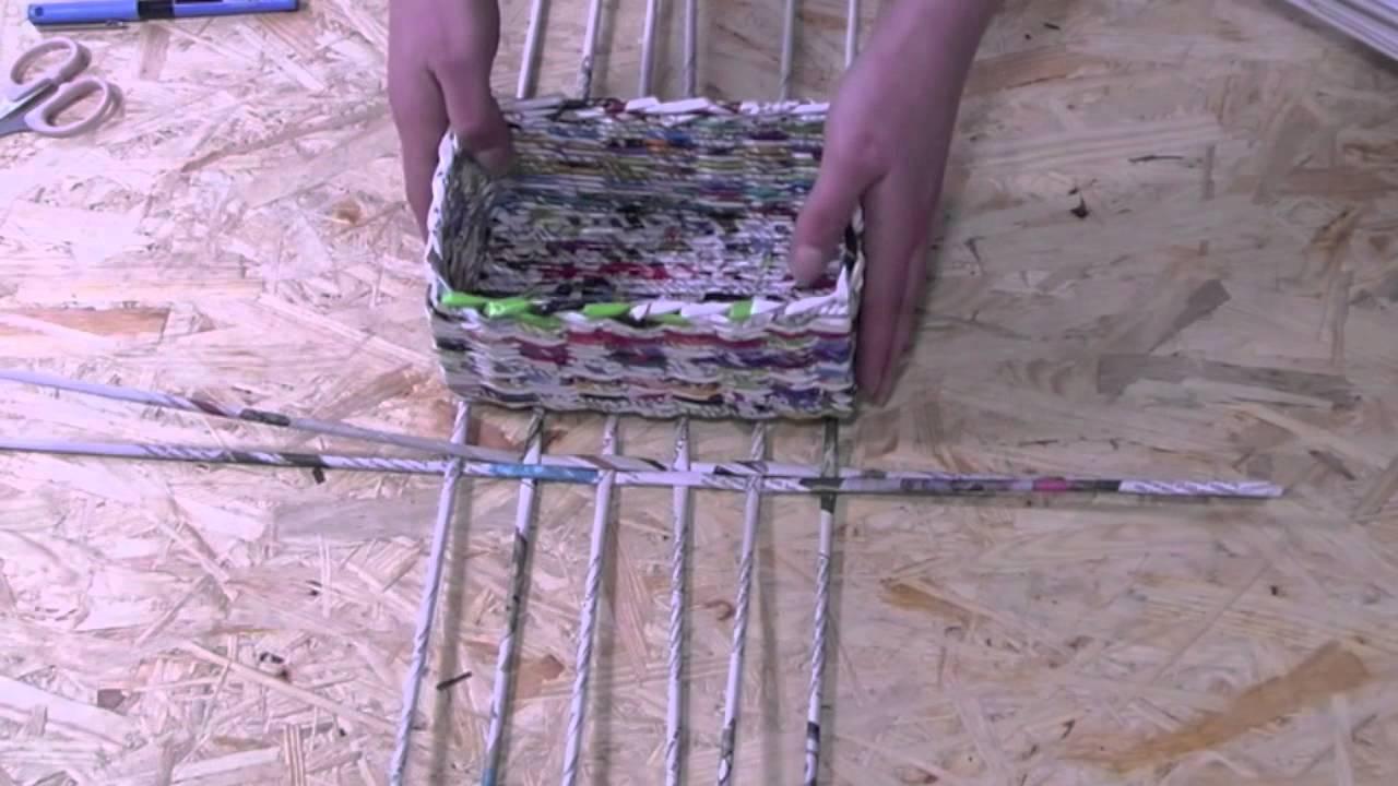 a2b352d9881e39 Papierowa wiklina krok po kroku - jak zrobić prostokątne dno - YouTube