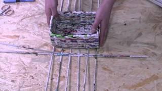 Repeat youtube video Papierowa wiklina krok po kroku - jak zrobić prostokątne dno