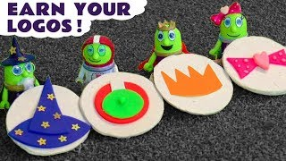 Funny Funlings Earn Your Logos with Cars 3 McQueen and Play Doh Fun