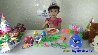 Bóc trứng socola - Trò chơi bóc trứng bất ngờ - Chocolate surprise eggs ❤ AnAn Birthday Party ❤