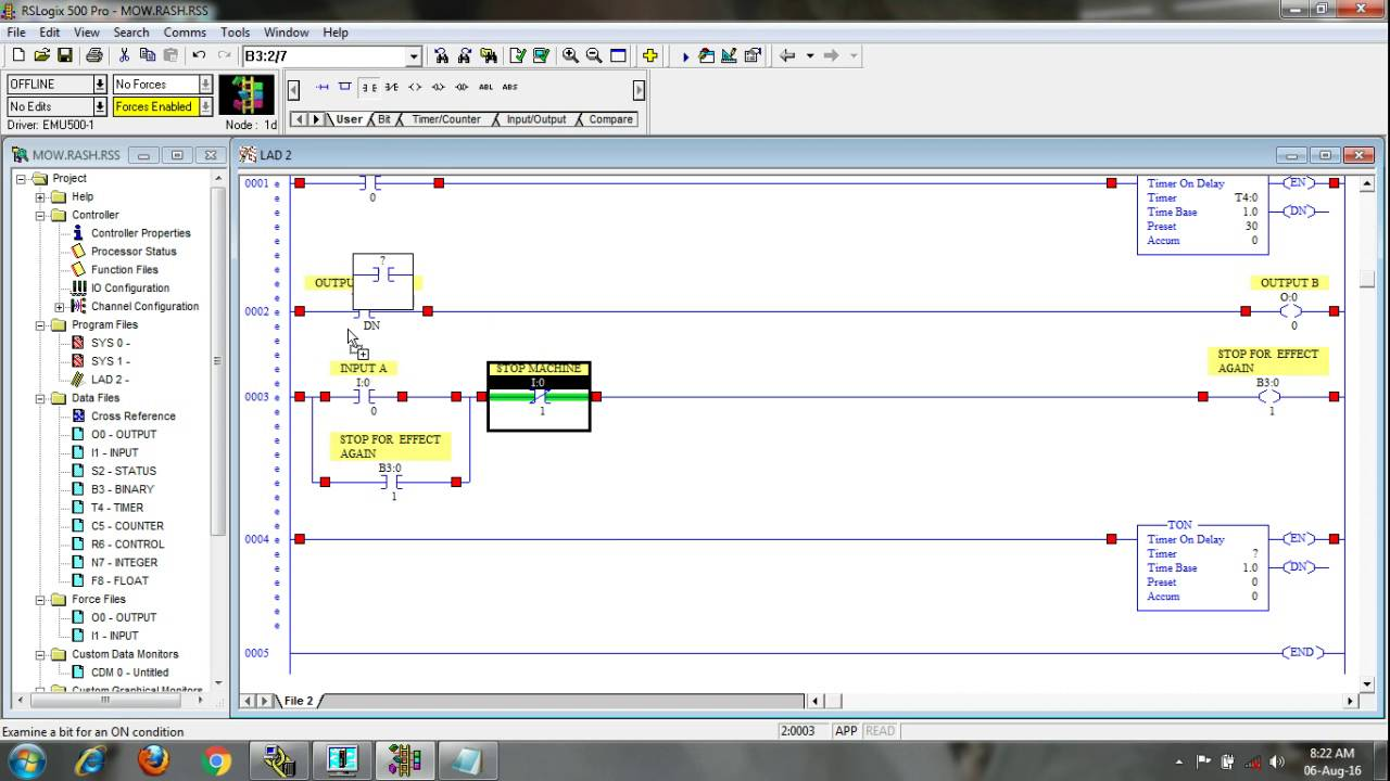Basic PLC Programming Training / Tutorial on Allen-Bradley, Rs logix 500