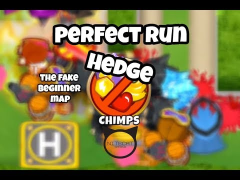 Bloons TD6 Hedge CHIMPS Mode Perfect Run