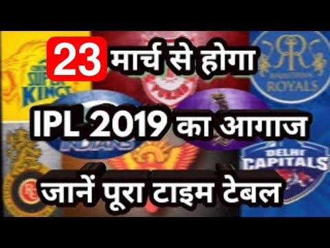 IPL 12 Schedule,Complete Details for Indian Premier League 2019 Dates, Time, Venues, Teams, Fixtures