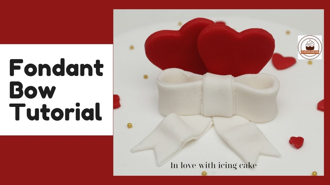 Fondant Bow |Easiest Fondant Bow without any tool | Fondant Bow Cake Topper|