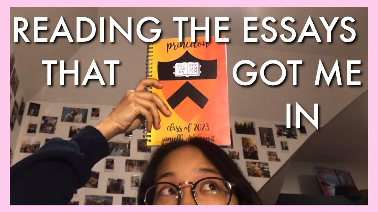 The Essays That Got Me Into Princeton