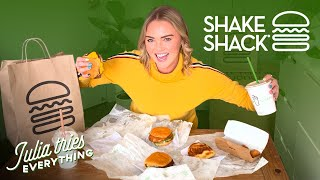 Trying ALL Of The Menu Items At Shake Shack