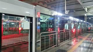 인천공항 자기부상철도 용유행 열차 장기주차장역 출발 영…