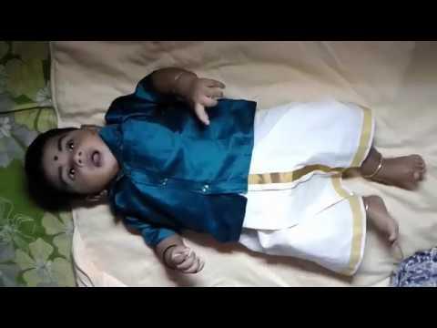 How to wear Dhoti newborn infant baby