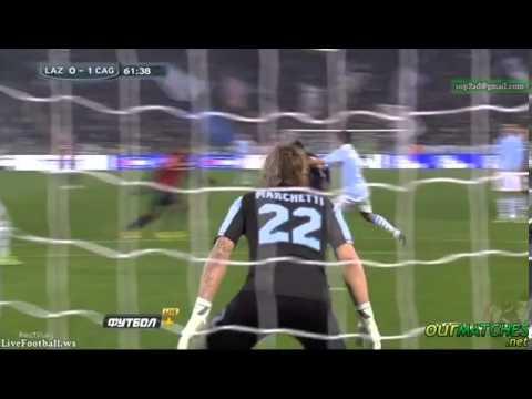 Lazio 0 - 1  Cagliari  Sau M. Goal 05/01/13
