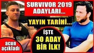 Survivor 2019 Yarışmacıları ve Yayın Günü Belli Oldu! İşte 30 Aday...Kimler Yok Ki?