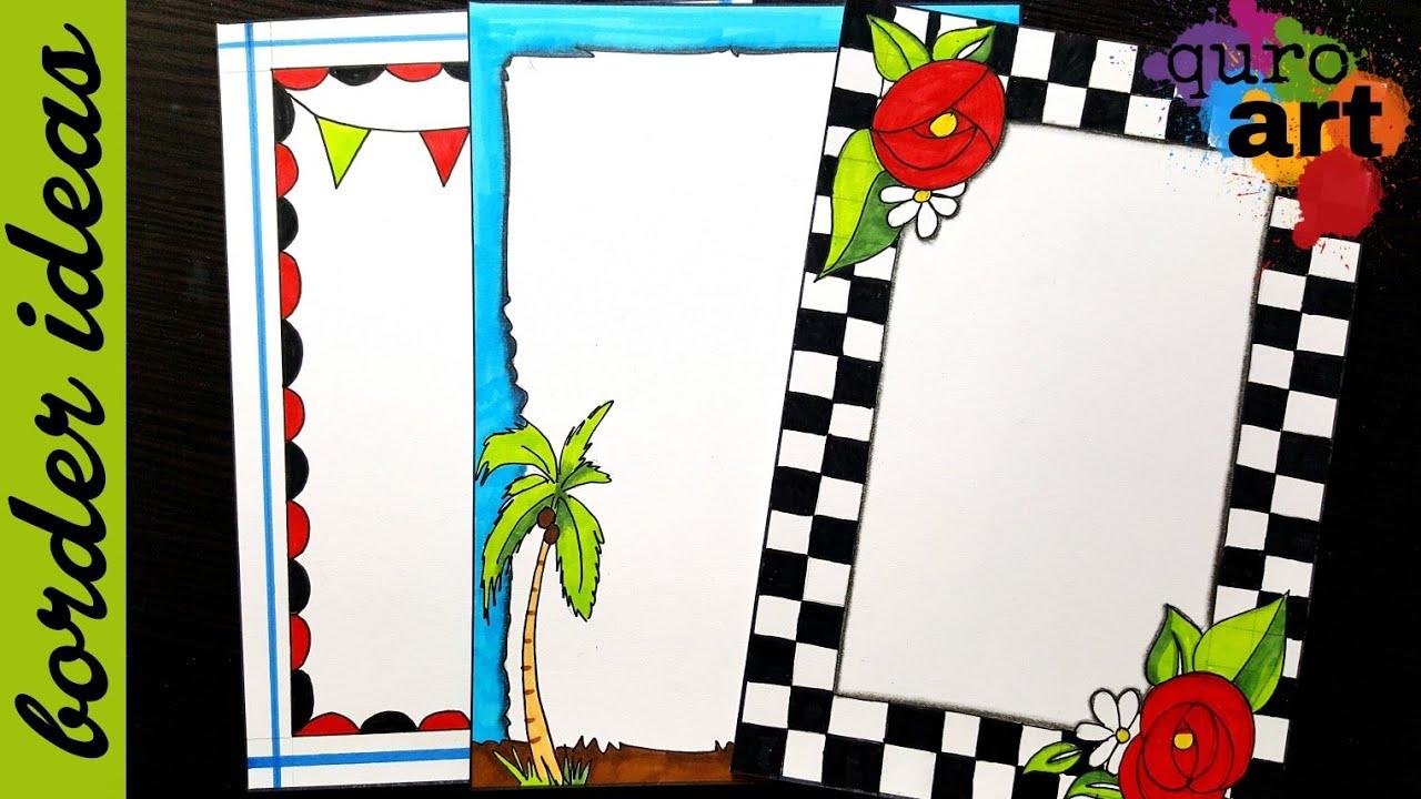 Check | Border designs on paper | border designs | project ...