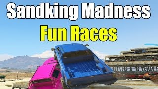 GTA 5 Funny Moments MONSTER TRUCK EDITION - FUN RACES