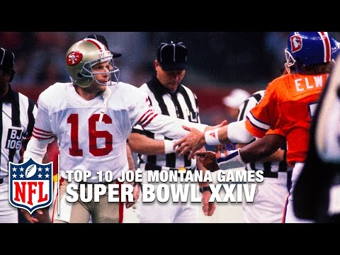 #6: Montana vs. Elway (Super Bowl XXIV)  | Top 10 Joe Montana Games of All Time | NFL Films