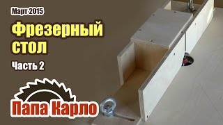 Фрезерный стол своими руками. Часть 2 - Боковой упор для фрезерного стола | Столярная мастерская