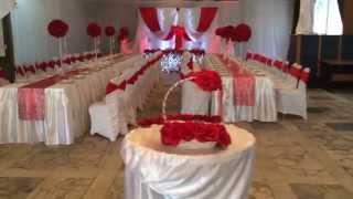 Украшение свадебного зала в Минске, в красном цвете от Magnatus.by