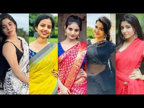 Latest Trending Beautiful Saree Girls Instagram Reels l Tamil Saree Girls Video-70 Tamil Girl Reels