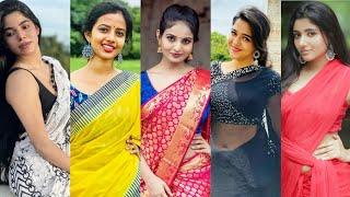 Latest Trending Beautiful Saree Girls Instagram Reels l Tamil Tik Tok Video l Tamil Girl Reels