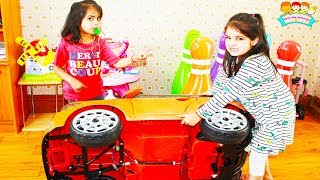 Ashu Pretends Play with Ride-on Toy Car for Children by Toys And KidsPlay