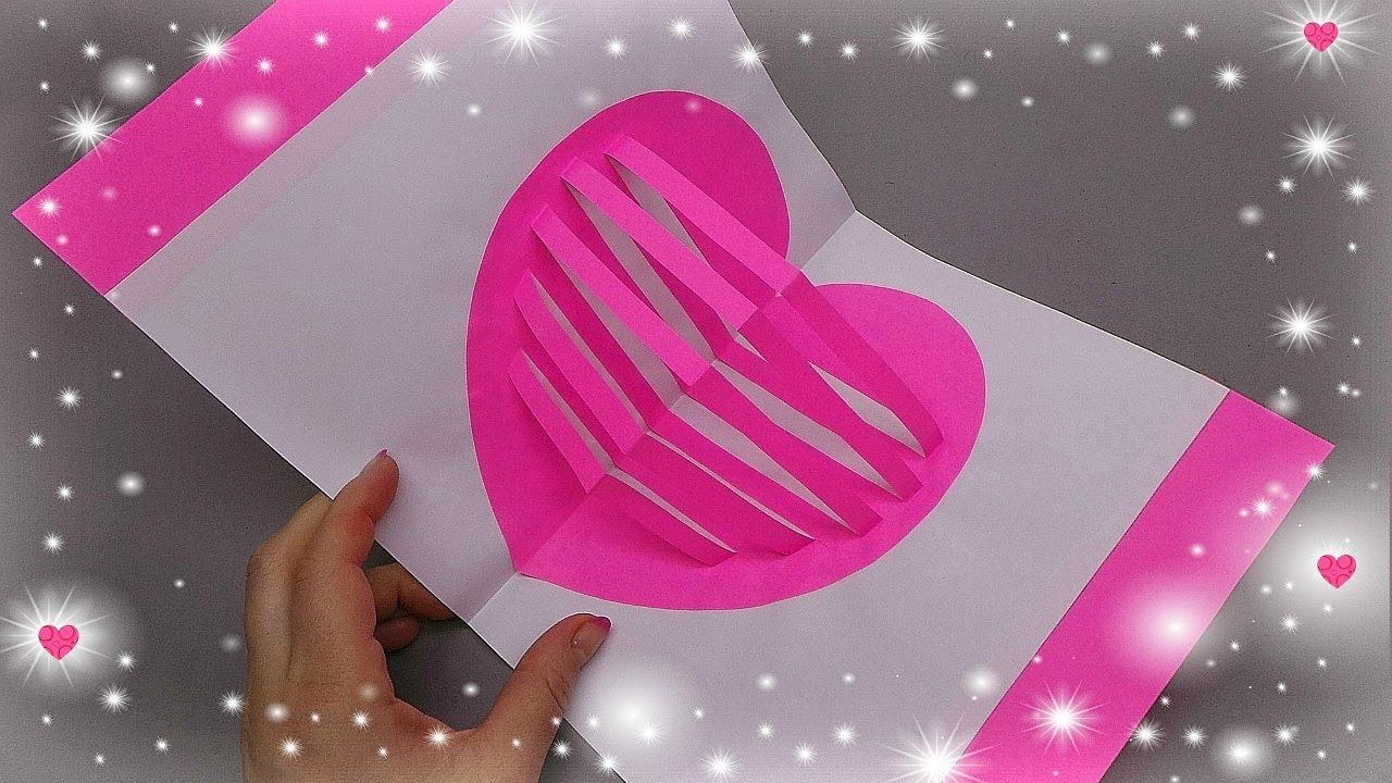 Как сделать объемную открытку 3д сердце