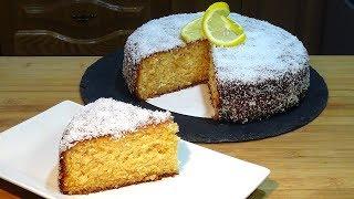 Receta Bizcocho jugoso de limón y coco - Recetas de cocina, paso a paso, tutorial