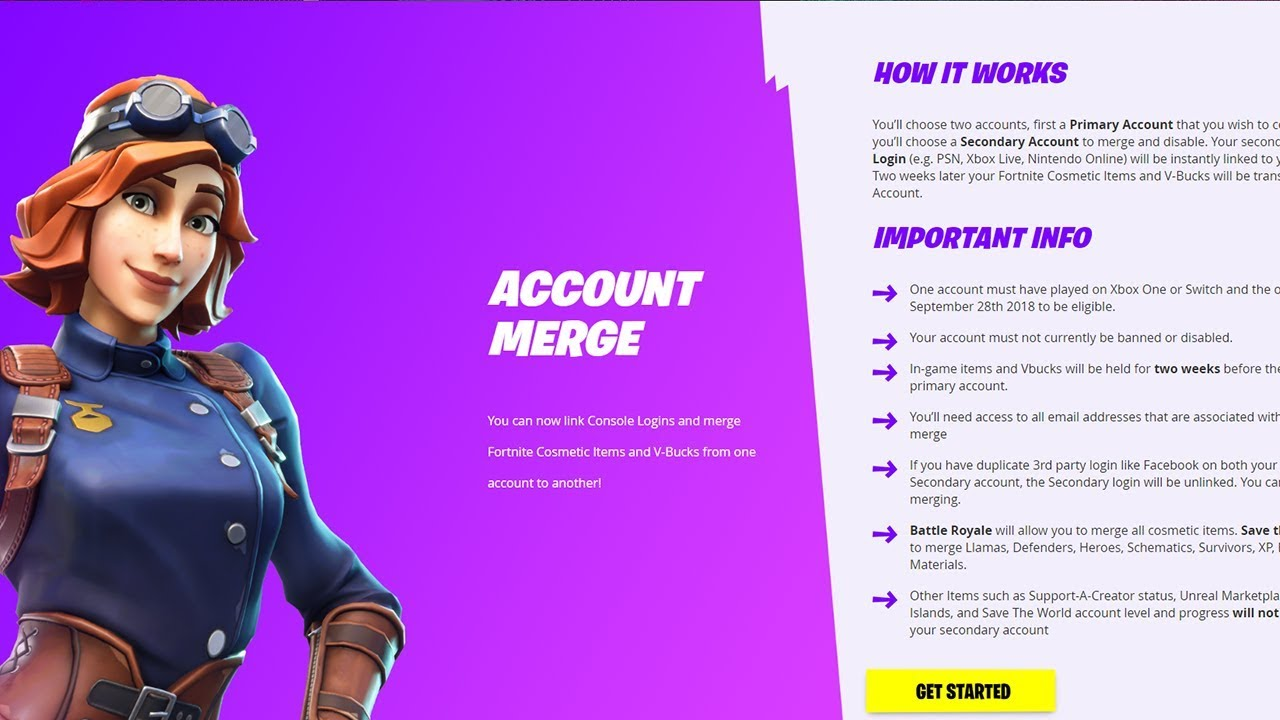 How to merge your Fortnite account! - YouTube