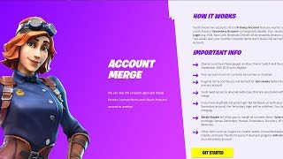 How to merge your Fortnite account!