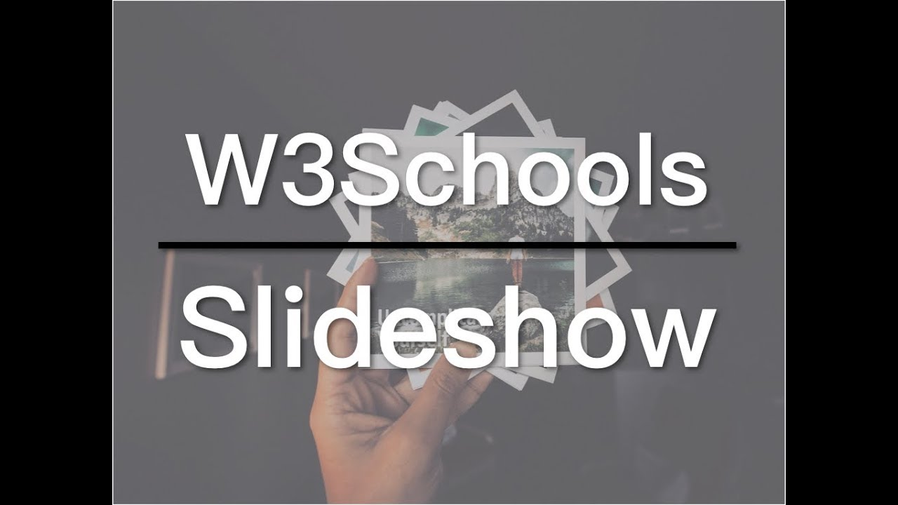 How to Create a Slideshow on Your Website - W3Schools Video