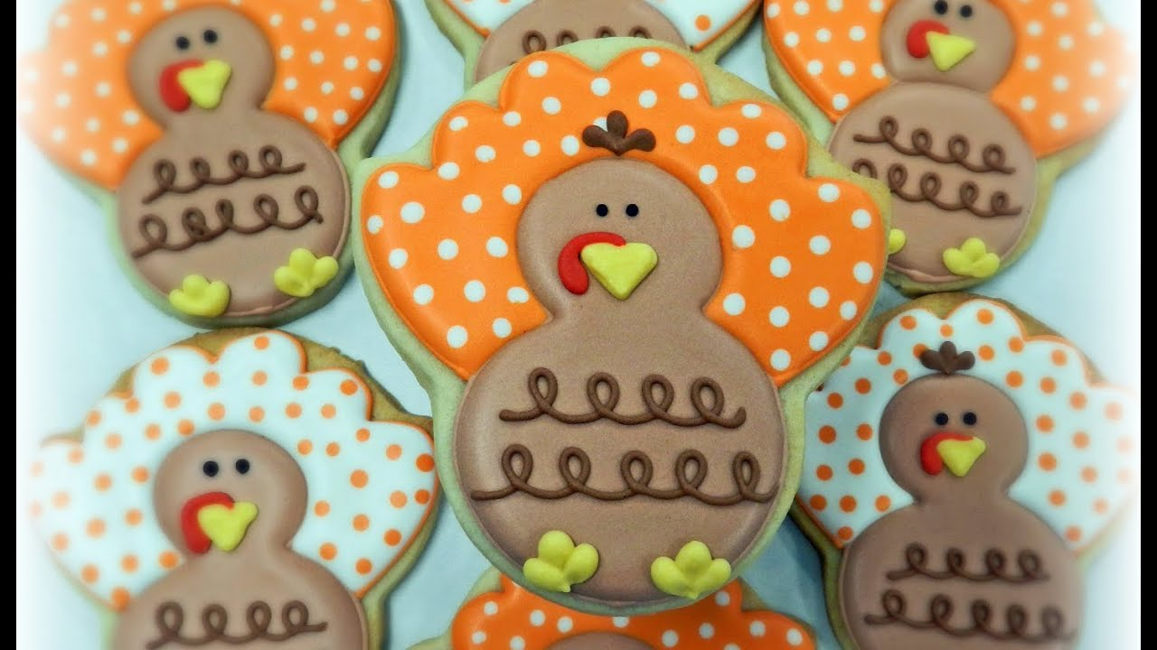 How To Decorate A Polka Dot Turkey Cookie