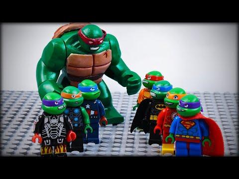 LEGO TMNT Avengers Vs Justice League As Ninja Turtles