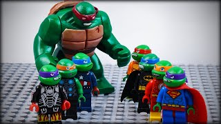 LEGO TMNT Avengers vs Justice League as Ninja Turtles