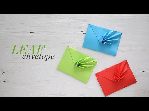 DIY: Leaf Envelope