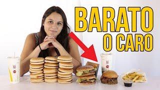 Comida BARATA vs CARA