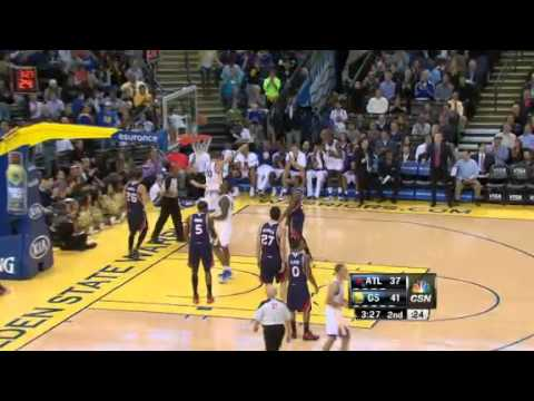Lee Penetrates the Lane | Atlanta Hawks Vs Golden State Warriors | 11/14/2012 | NBA 2012/13