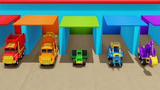 Toys Monster Trucks Colors Alphabets learning Video for Kids