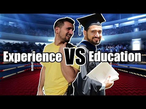 EXPERIENCE VS EDUCATION