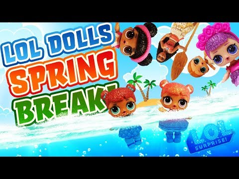 lol-surprise-glitter-series-dolls-go-on-spring-break!-starring-moana,-vacay-babay,-and-sugar-queen!