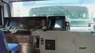 【防護無線受信で緊急停車】 中間運転台から鳴り響く警報音 JR東日本 E231系