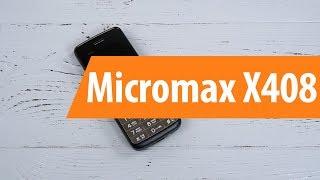 Распаковка Micromax X408 / Unboxing Micromax X408