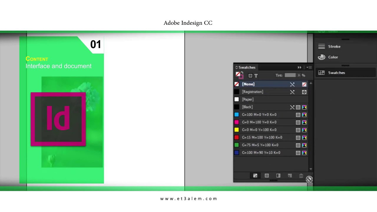 Et3alem.com | Adobe Indesign CC