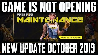 Free Fire New Update Game is Not Opening October 2019 - Garena Free Fire