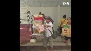 泰国允许向缅甸流离失所的克伦族人运送食品 - YouTube