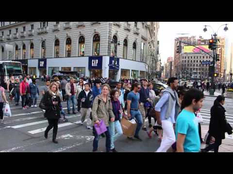 Herald Square, NYC - April 12, 2014 - First Warm Day