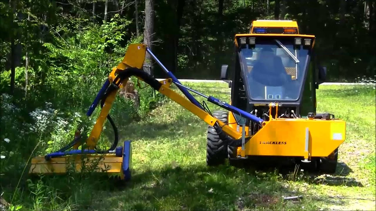 Trackless Boom Flail Mower