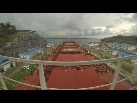 THIRD SET OF LOCKS TRIAL TRANSIT(PANAMA CANAL EXPANSION) -BAROQUE -AGUAS CLARAS