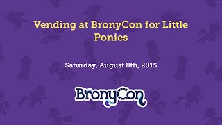 Vending at BronyCon for Little Ponies