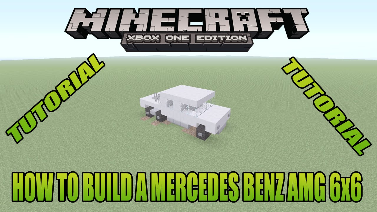Minecraft xbox edition tutorial how to build a mercedes for Build my mercedes benz