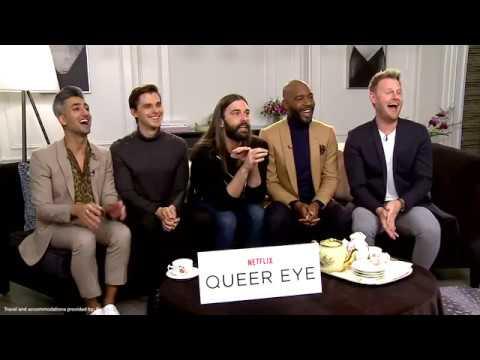 QUEER EYE Netflix interviews - Jonathan van Ness, Tan France, Karamo Brown, Bobby Berk, Porowski