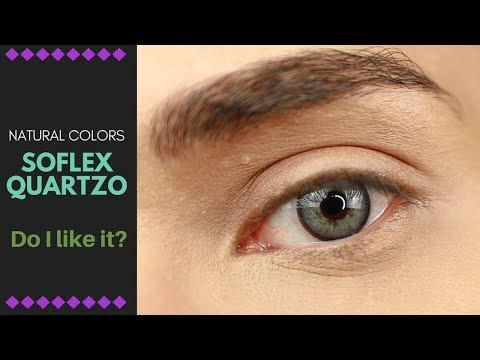 Solotica Quartzo - Natural Colors Soflex on Dark Brown Eyes!
