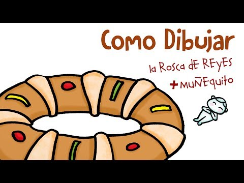 Como Dibujar La Rosca De Reyes How To Draw The Three Kings Bread